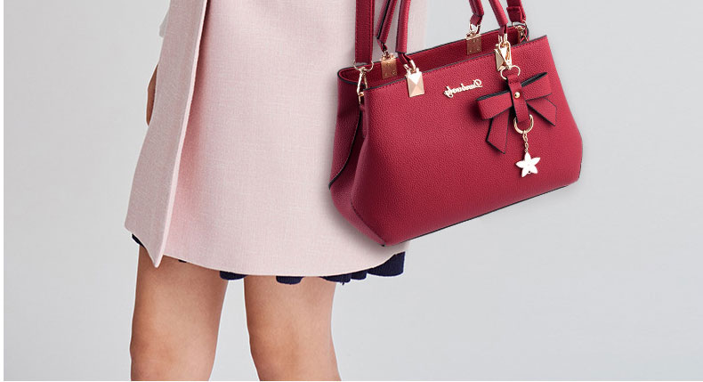 WENYUJH New 18 Elegant Shoulder Bag Women Designer Luxury Handbags Women Bags Plum Bow Sweet Messenger Crossbody Bag for Women 26