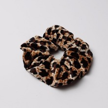 Big Velvet Scrunchy Animal Grain Hair Bands Hair Ribbons Ponytail Holder Hair Tie Band Flannelette Women Hair Accessories