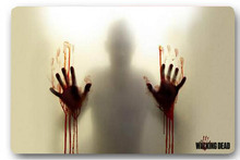 High quality customized Walking Dead Two Hands Blood 40x60cm door mat carpet Bath mat kitchen mats home decoration
