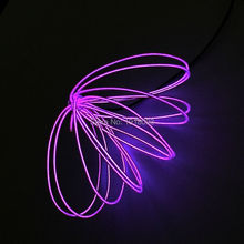 Hot!2017 New design 2.3mm 3Meter Purple LED Strip Neon Light Flexible EL wire rope cable With EL driver For Party Dance Supplies