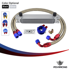 AN10 OIL COOLER KIT 7ROWS TRANSMISSION OIL COOLER + OIL FILTER ADAPTER +STAINLESS STEEL BRAIDED HOSE WITH PQY STICKER AND BOX(China)