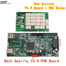 Hot Promotion!!! Auto OBD2 TCS CDP No Bluetooth 2015.R3 Free Active +V3.0 PCB Board obd2 Scanner For Cars/Trucks/Generic 3 in 1