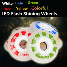 Original PUYEE 85A Slide Drift Braking Inline Skate Wheel, LED Flash Roller Skates for SEBA PowerSlide RB Patins