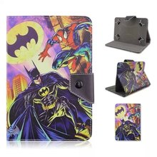 "Free Shipping 400pcs/lot Batman Pattern 10 inch Universal Tablet Case Cover for Universal 10"" Skin Case"