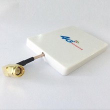 4G LTE antenna SMA 18dbi high gain small panel antenna SMA male right angle white for 4g modem  #1