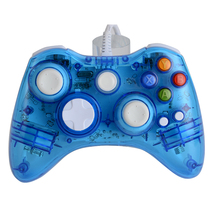 NEW ! High Quality LED Colorful Light Glow Wired USB Gamepad Joystick Controller For Microsoft for Xbox 360 Games Controller(China)