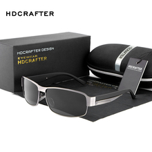 HDCRAFTER Fashion Driving Sun Glasses for Men Polarized UV400 Brand Designer Sunglasses Men Oculos Male gafas de sol 2017 Hot(China)