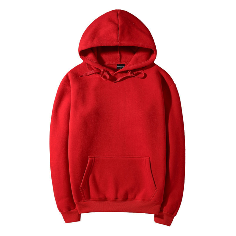 17 fashion color orange hooides men's thick clothes winter sweatshirts men Hip Hop Streetwear solid fleece hoody man Clothing 15