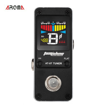AROMA AT-07 Guitar Tuner Mini Single Guitar Effect Pedal Electric Effects High Quality Guitar Parts Accessories(China)