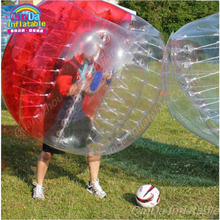 Inflatable Soccer Bubble Ball Human Bubble Crazy Spinner Toy Inflatable Body Bumper Footballs, Inflatable Zorb Ball(China)