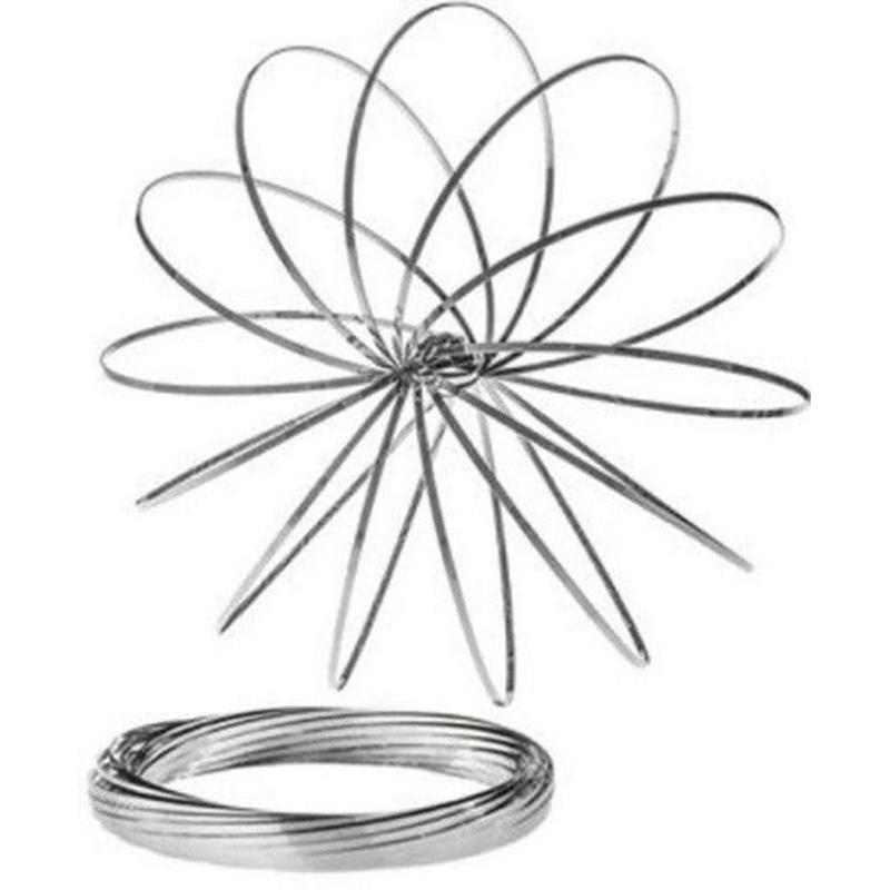 Toy-Ring-Flow-Spring-Kinetic-Toroflux-Flowtoys-3d-Metal-Arm-Slinky-Geoflux-Magic(1)