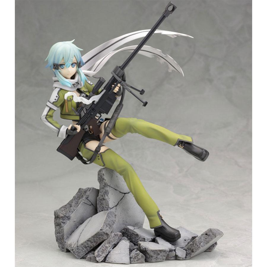 Anime 241# Sword Art Online II Asada Shino Sinon PVC Figure Toy 20cm