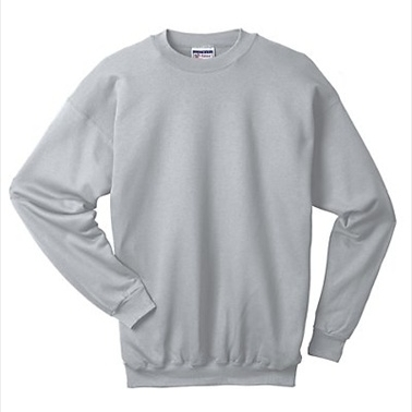 F260 Ultimate Cotton Crewneck Adult Sweatshirt Size Large Ash Grey (1)