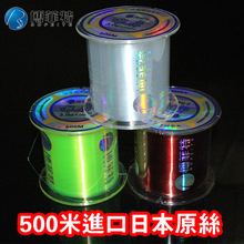 nylon Braided Fishing Line 500m With Nanometer Technique Standard Size Parallel Winding High Flexibility And Water Cutting(China)