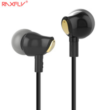 RAXFLY Ceramic Earphone In Ear Earbuds Nano Earpiece Stereo Music + Mic Control For iPhone Samsung Xiaomi Huawei For Android iOS(China)
