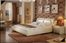 modern genuine leather bed contemporary bedroom furniture made in China alibaba