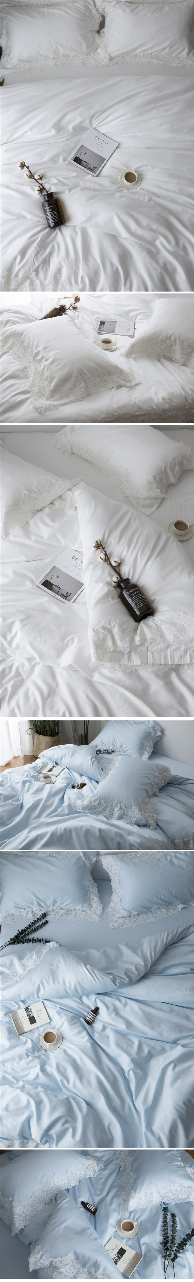 Wedding bedding sets king size 60s satin long staple cotton bed sheets romantic lace embroidery duvet cover bed linen 6