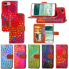 For Apple iPhone 7 Plus Luxury Dot Leather Case Cover Charming Phone Bag Wallet Stand Cases For iPhone 7 5.5inch