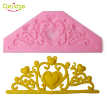 1PC Classic  Crown Silicone Cake Mould 3D Tiara Chocolate Soap Fondant Cake Decorating Tools DIY Baking Tools
