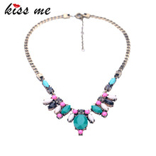 New Styles 2016 Fashion Jewelry Antique Vintage Resin Drop Bib Pendant Necklace For Christmas Gifts(China)