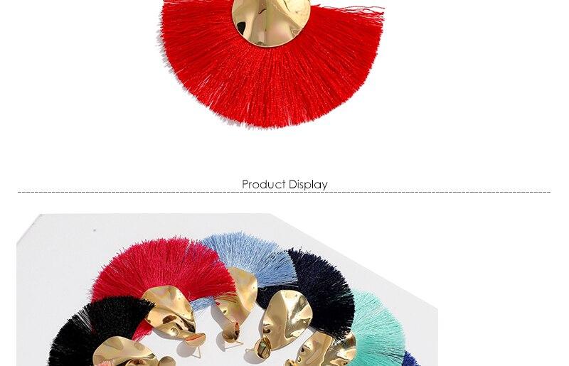 AYAYOO 19 Colors Fashion Tassel Earrings For Women Gold Color Metal Simple Fringe Dangle Earrings Handmade Ethnic Jewelry (3)