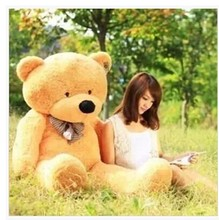 Stuffed animal 100cm light brown cute Teddy bear plush toy soft doll gift w1659