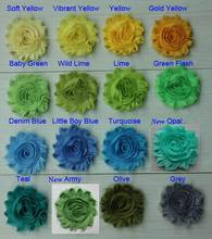 "Free DHL/EMS 145y 67 colors 2.5"" chic shabby frayed chiffon rose flower trim for girls hair accessories headband flowers"