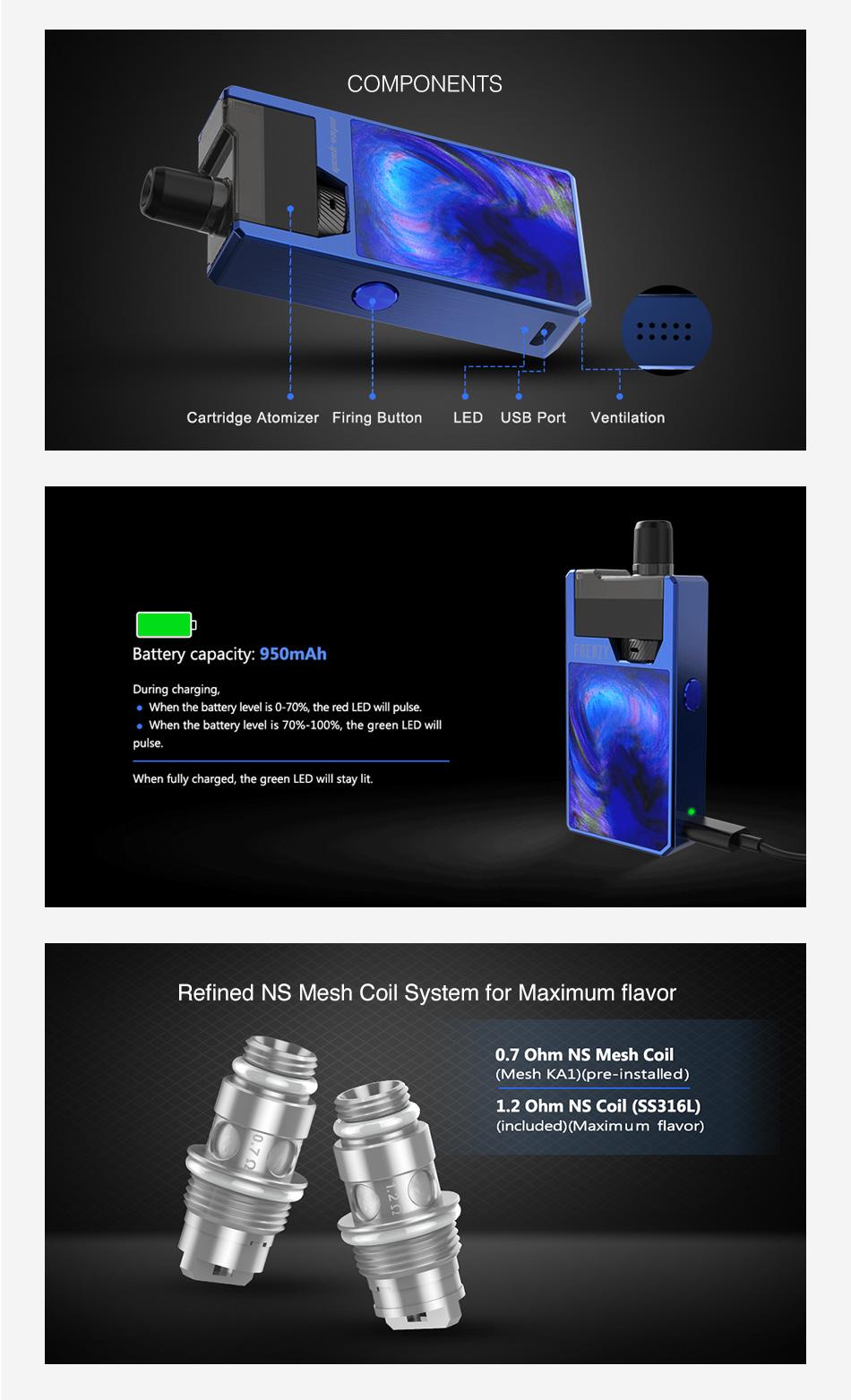 GeekVape Frenzy Pod Kit 950mAh