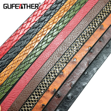 GUFEATHER P02/10MM jewelry accessories/pu Leather cord/diy choker/jewelry findings/components leather bracelet material