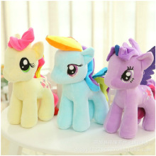 15CM Rainbow Little Horse 6 Colors Stuffed Plush Toys Cartoon Animals Baby Plush Toys Gifts for Children Wedding PT010