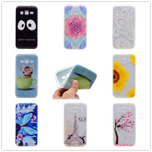 Cartoon Ultra-thin Transparent Soft TPU Silicon Phone Case For Samsung Galaxy J2 2016 J210 J21F Butterfly Floral Back Cover
