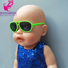 New born Zapf baby dolls Sun Glasses accessory also fit for 18 inch american girl doll doll accessory(China)