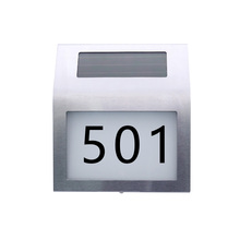 Convenient Solar Lamp Door Wall LED Lights Indicator Waterproof Doorplate Plaque Lamps Plate Lights House Number para residencia(China)