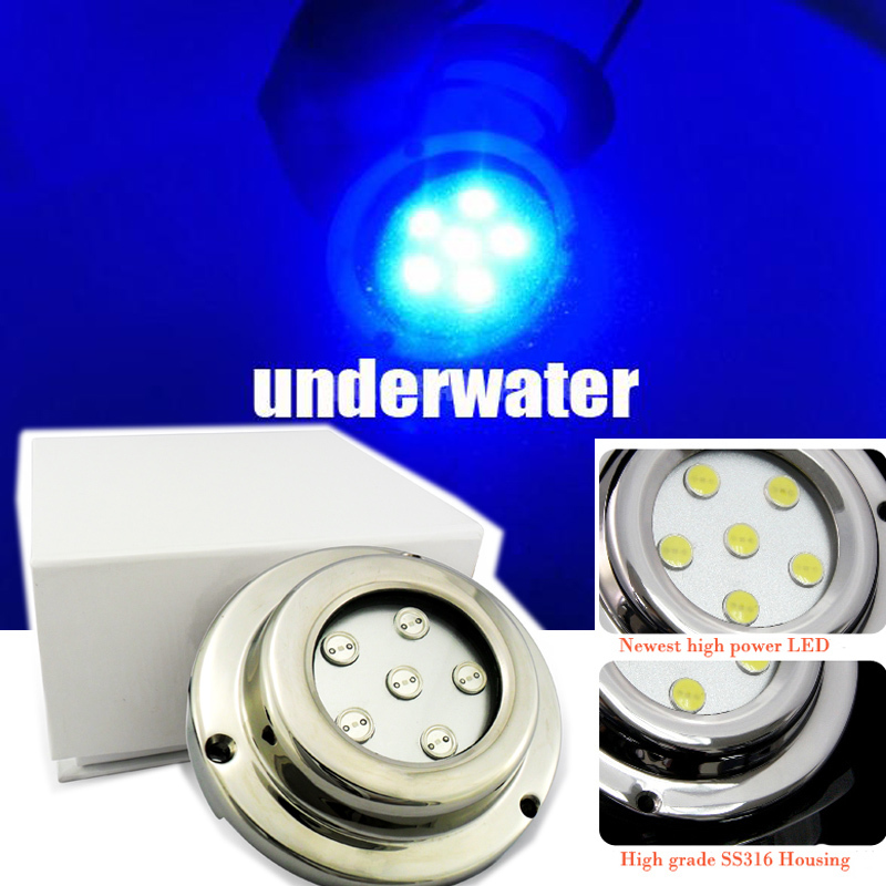 China New led marine lights blue, DC 9V-14V led light 6W fountain pump fish tank marine led lights for underwater light<br><br>Aliexpress