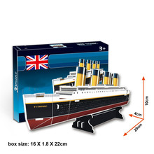 3D Paper Puzzle DIY Model Kids Toy Titanic Cruise Puzzle 3D Vehicle Puzzle for Children(China)