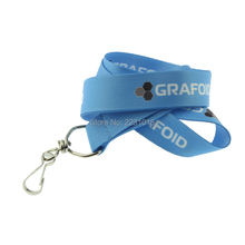 Free shipping 20mm*95cm lanyards 100PCS Lot Customized Polyester Both side printed logo lanyards with Lobster claw