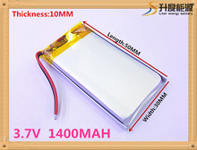 best battery brand 3.7V lithium polymer battery 1400mah battery 103050 Toy Spot A GPS navigation products(China)