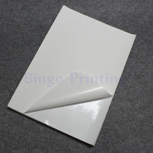 50 Sheets White A4 Waterproof Sticker Polymer Paper Synthetic Paper Blank Sticker Only For Laser Printer