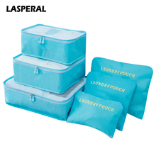 Lasperal 6PCs/Set Travel Storage Bag Big Capacity Clothes Pouch Luggage Organizer Portable Container Waterproof Storage Case(China)