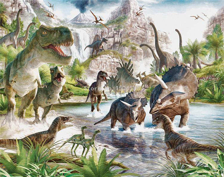 HTB1Sb22RFXXXXcsaXXXq6xXFXXXq - 3D Wall Mural Wallpaper Custom Any Size Cartoon Children Wallpaper 3D Stereo Dinosaur World Backdrop Wall Decor Papel De Parede