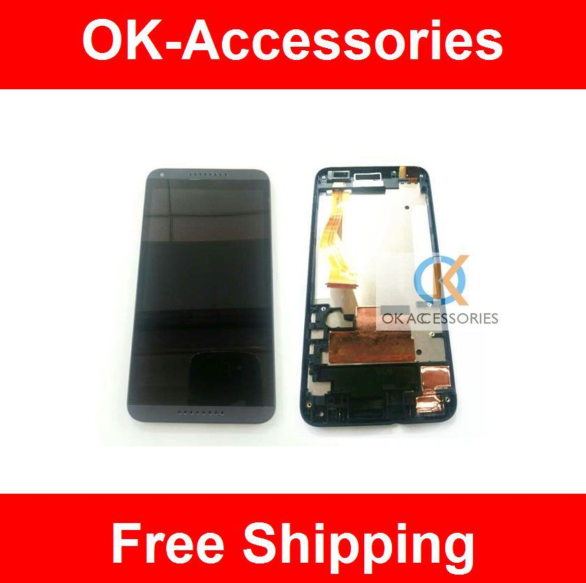 Black Color 100% High Quality For HTC Desire 816 800 D816W LCD Display+Touch Screen Digitizer+Frame 1PC / Lot<br><br>Aliexpress