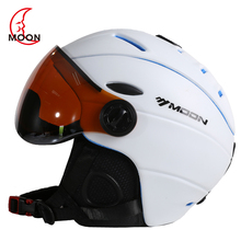 New Wholesale Brand Man Woman Ski Helmet Ski Goggles Snowboard Helmet Fast Moto Climbing Sport Safety Skateboard Snowmobile Mask(China)