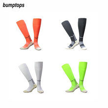 Skid Resistance New Men's Soccer Socks Football Great Quality Plain Hose Breathable Anti Slip Sports Stockings Different Colors
