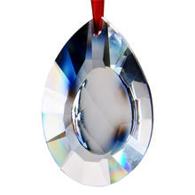 5PC 76mm Clear Sunflower Glass Crystal Hanging Drop Suncatcher Drops Crystal Chandelier Lamp Part Prism Wedding Home Decoration(China)