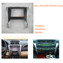 Car Stereo Radio Fascia Dash CD Trim Installation Kit for TOYOTA Camry 2011-2014 Double Din Fascia ZWNAV 11-169(China)