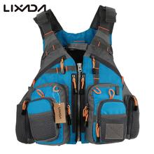 Lixada Outdoor Fishing Vest Life Safety Jacket Swimming Sailing Waistcoat Vest Floatation Floating Superior 209lb Bearing Life(China)
