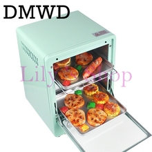 DMWD MINI toaster electric oven multifunction timer making biscuits bread cake pizza Cookies baking machine 12L liter 900W EU US