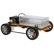 Wooden Handcraft DIY Four-wheel Drive Electric Car Without Battery Car Toys for Children Assembles Model Toys(China)
