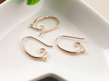 6pcs ( 3pair) 27x18mm Rose Gold Plated Ear Hooks Earring Wires for Handmade Women Fashion Jewelry Earrings (L2-19)