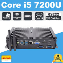 Intel Core i7 5550U Mini PC Windows 10 мини компьютеры DDR3L Оперативная память mSATA Minipc NUC Intel i7 Dual LAN 4 K HD Mini PC Портативный(China)